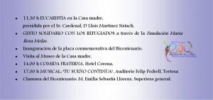Clausura Bicentenario Folleto Dorso
